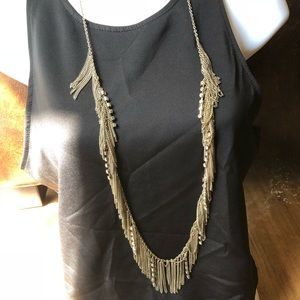 Jewelry - Gold dangling chain long necklace